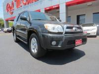 Come and see this 2007 TOYOTA 4RUNNER SR5 59K MILES