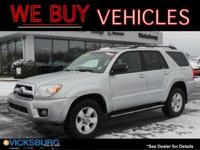 Options:  2007 Toyota 4Runner Sr5|Silver|4Wd. Odometer