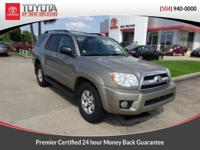 Clean CARFAX. Gold 2007 Toyota 4Runner SR5 RWD 5-Speed