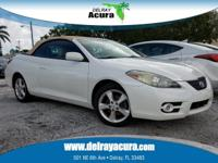 Clean CARFAX. Blizzard Pearl 2007 Toyota Camry Solara