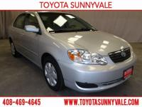 Check out this 2007 Toyota Corolla LE. Its Automatic