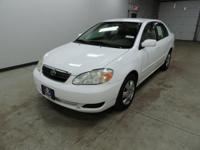 Options:  2007 Toyota Corolla|White|Rhinelander Gm