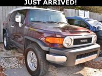 This FJ Cruiser features: 4WD.  Clean CARFAX Odometer