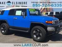 CARFAX One-Owner. 5-Speed Automatic Blue 2007 Toyota FJ