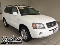 Recent Arrival! 2007 Toyota Highlander in White,