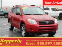 Clean CARFAX. This 2007 Toyota RAV4 in Barcelona Red