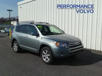 ONE OWNER!! 2007 TOYOTA RAV4 LIMITED!! 4WD, 2.4L, 17