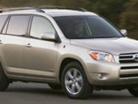 Options:  2007 Toyota Rav4 Limited 4X4|Blizzard