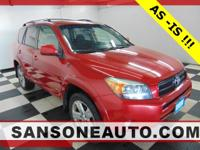 CARFAX One-Owner. Red 2007 Toyota RAV4 Sport 4WD