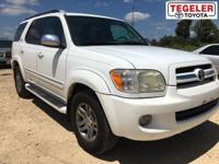 White 2007 Toyota Sequoia Limited RWD 5-Speed Automatic