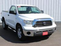 Options:  2007 Toyota Tundra Base|White|Accident Free