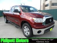 Options Included: N/A2007 Toyota Tundra Double Cab, red