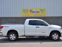 2007 Toyota Tundra SR5  in Super White and ONE OWNER.