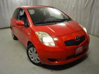 Recent Arrival! 2007 Toyota Yaris Red CARFAX One-Owner.