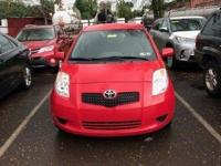 CARFAX One-Owner. Red 2007 Toyota Yaris FWD 4-Speed