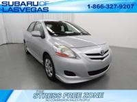 CARFAX One-Owner.   Silver 2007 Toyota Yaris FWD 1.5L