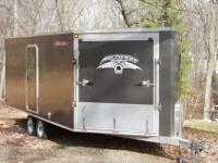 up for auction is a 3 snowmobile trailer , I tried to