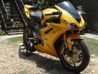 2007 Triumph Daytona 675 with 7,600 miles. Made use of