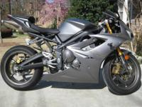 For sale is a 2007 Triumph Daytona 675 with 1408 miles