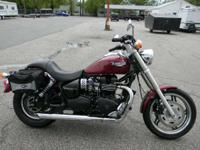 2007 Triumph Speedmaster MULBERRY RED ONLY 7734 MILES