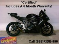 2007 Used Suzuki GSXR600 Sport Bike - For sale with all