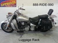 Loaded with saddlebags, backrest, luggage rack, freeway