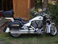 Description 2007 Victory Kingpin Touring bike. 3700