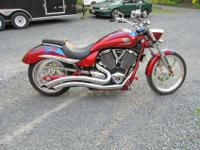 2007 Victory Vegas Jackpot, 4250 miles Sunset Red with