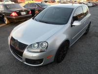 2007 VOLKSWAGEN GTI FOR SALE SILVER ON GRAY 6 SPEED.