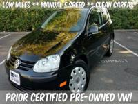 PRIOR CERTIFIED PRE-OWNED VW ** LOW LOW MILES ** GREAT
