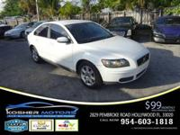 Options:  2007 Volvo S40 2.4I 4Dr Sedan|White|Alloy