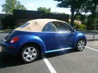 2007 VW Beetle convertible,only 56,098 miles, blue with