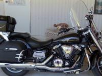 2007 Yamaha V-Star 1300 Tourer with 9,367 miles, alarm