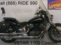 2007 Yamaha Vstar 1100 Custom Raven Edition Motorcycle