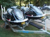 . Up for auction are two 2007 Yamaha Waverunner VX