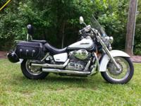 2007 750 Honda Shadow Aero Motorcycle $3000 White /