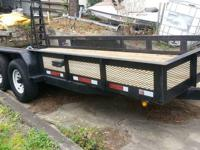 2007 Tandem axle heavy equipment / bobcat trailer with