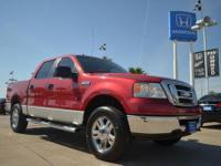 2007 Ford F150 XLT 4WD 4X4 preowned red pickup for sale