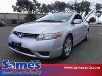 New Arrival! This 2007 Honda Civic Cpe LX will sell
