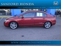 Civic Si 4D Sedan 6-Speed Manual with Overdrive and