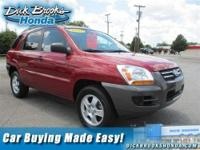 -NEW ARRIVAL- This Volcanic Red 2007 Kia Sportage is