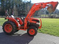 2007 Kubota L3540D tractor starts right up, runs strong