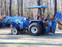 2007 NEW HOLLAND TC30 30 HP4X4 TRACTOR WITH LESS THAN