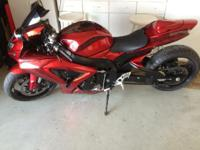 2007 Susuki GSXR 600. This magnificent Red custom-made