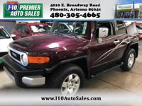 CARFAX One-Owner. Black Cherry Pearl 2007 Toyota FJ