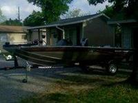 "2008 17ft Bass Tracker boat ""Pro Crappie"
