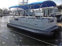 yet keeps the flatter feel inherent to pontoons.The