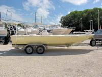 This 2008 23' Canyon Bay Flats Boat powered by a 115hp