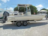 This 2008 24' Scout Bay Boat is powered by a 250hp