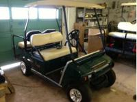 2008 green club car with 2011 batteries, lights, rear